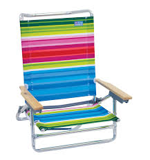 com rio beach classic 5 position lay flat folding beach chair sports outdoors