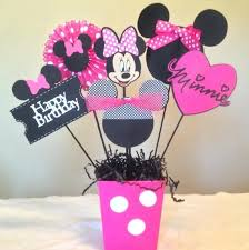 Design Party Decorations Enchanting Pleasant Design Minnie Mouse Centerpiece Homemade Birthday