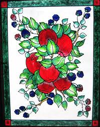 you will remember evelyn fischer she loves to do gallery glass painting on old window frames well the girl has been busy again
