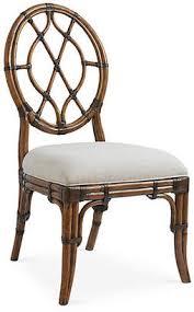 at one kings lane tommy bahama cedar key oval back side chair ivory