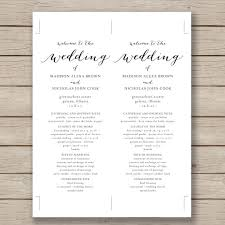 program template for wedding wedding program template 41 free word pdf psd documents with