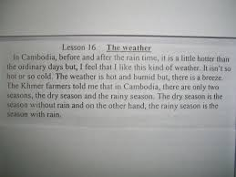 Please Describe The Weather Life In Cambodia