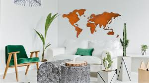 Metalmaps makes geological wall decorations with an industrial look. We  started off with the world