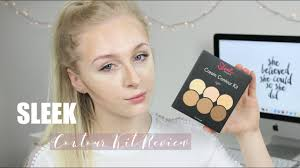 sleek contour kit review demo emily rose