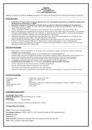 Sample Resume For Experienced Mainframe Developer