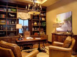 Furniture Excellent Small Home Library Design Ideas Wooden Wall - Vintage studio apartment design