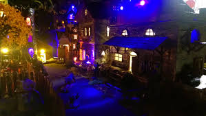 Miniature Village Street Lights Creepyville Haunted Miniature Village In This Pic The