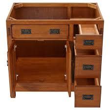 Craftsman Medicine Cabinet 36 American Craftsman Vessel Sink Vanity Rustic Oak Bathroom