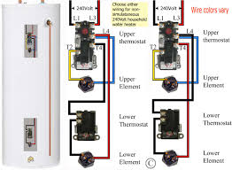how to wire water heater thermostat ordinary tank wiring