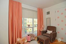 blackout shades baby room. Fabulous Peach Silk Ripplefold Curtains With Blackout Roller Shade Behind Dual Treatment Baby Room The Orion West Nd Street Nyc Shades