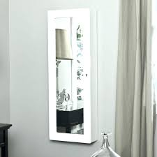jewelry armoire wall mount white jewelry wall mount inch mounted lighted the mirror with walnut photo jewellery cabinet cherry box for makeup white