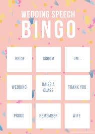Wedding Bingo Words Wedding Speech Bingo Free Printable Game Bespoke Bride