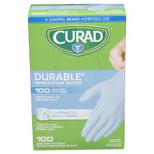 Curad Exam <b>Glove Blue</b> Nitrile, 100 Count Diabetes Management ...
