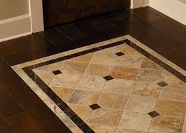 Wood Tile Floor Patterns Custom Tile Inlayed Detail In Wood Floor Match The Shower To The
