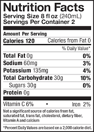 apple cider pint nutrition facts