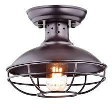 industrial cage lighting. Dazhuan Industrial Vintage Metal Cage Pendant Lighting Semi Flush Mount Ceiling Light Lamp Fixture ORB Hanging Chandelier - Amazon.com
