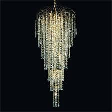 chair winsome crystal teardrop chandelier 9 brushed oak mini waterfall grand chandeliers cascade 532t light elegant