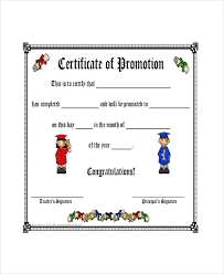 Promotion Certificate Template Promotion Certificate Templates Under Fontanacountryinn Com