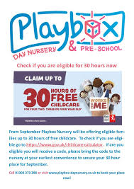 Free Childcare Advertising Playbox Page 5 Playbox Day Nursery Pre School