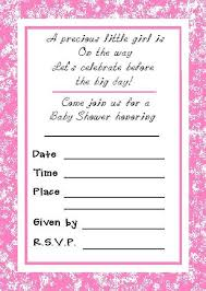 Free Printable Baby Shower Invitations For Girls Perfect Baby Girl Shower Invitations