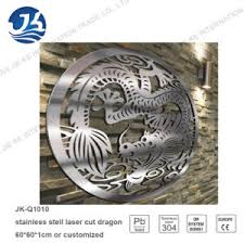stainless steel laser cutting chinese dragon metal wall art on chinese dragon metal wall art with stainless steel laser cutting chinese dragon metal wall art china