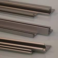 aluminum holder for 9mm industrial strip brush and garage door seals