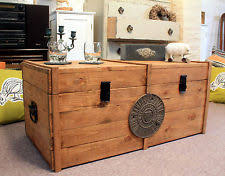 room vintage chest coffee table:  coffee table large wooden chest trunk rustic vintage storage blanket box coffee table chest coffee