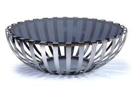 Modern Round Coffee Table Glass Photo   4