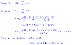 total pressure equation chemistry. q.8 what will be the pressure of gas mixture when 0.5 l h2 at 0.8 bar and 2.0 oxygen 0.7 are introduced in a il vessel 27ºc? total equation chemistry
