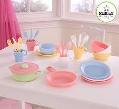 Pastel Kitchen Amazoncom Kidkraft 27pc Cookware Set Pastel Toys Games