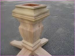 dining table base wood. Unfinished Wood Pedestal Table Base Dining