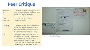 directed improvement and reflection time mrs humanities peer critique marking dirt