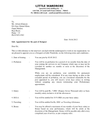 Appointment Letter Template Employee Benefits Employment