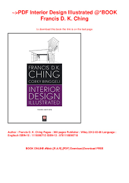 Interior Design Illustrated Third Edition Pdf Interior Design Illustrated Book Francis D K Ching