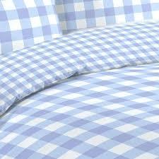 gingham duvet cover blue king size red single