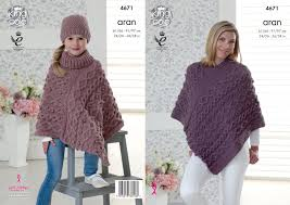 Knitting Patterns Womens Poncho