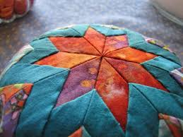 15 best Quilt - Folded Star images on Pinterest | Quilt blocks ... & folded star pincushion tutorial Adamdwight.com