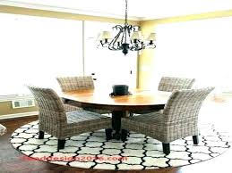 round rug for under kitchen table new what size area rugs di