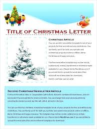 Microsoft Word Holiday Templates Free Family Newsletter Letters