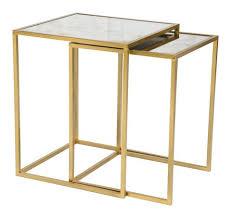brass and metal furniture. CAINTA BRASS METAL FRAME NESTING TABLES Brass And Metal Furniture