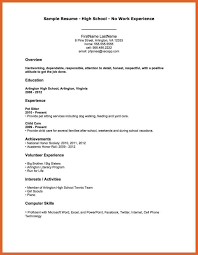 8 9 My First Resume Leterformat