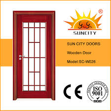 china classic design front glass wooden