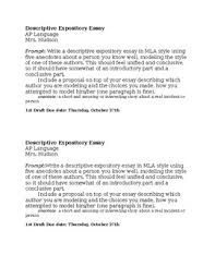 descriptive expository essay prompt and rubric by mary hudson tpt descriptive expository essay prompt and rubric