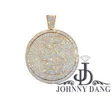 custom diamond pendant pc004