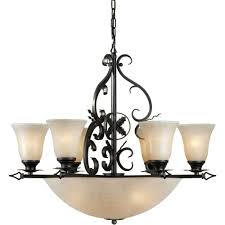 talista 10 light bronze chandelier with mica flake glass shade
