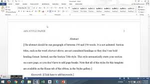 007 Essay Example Apa Style Format Term Paper Header Outline Sell