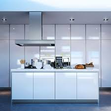Make Stainless Steel Countertop Modern Kitchen Island With Seating Ceiling Light Cube Stainless