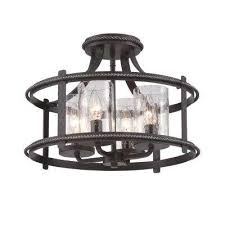 palencia 4 light artisan pardo wash interior incandescent semi flush mount