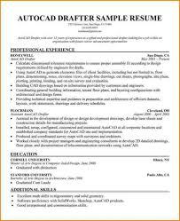 Autocad Drafter Resume New Sample Resume For Architectural Draftsman Samancinetonicco