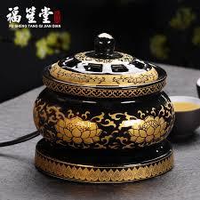 itang incense burner ceramic electronic incense burner household plug in sandalwood agarwood powder wood shavings
